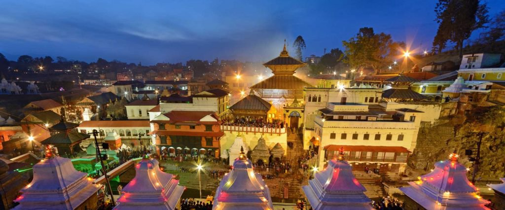 pashupatinath-temple at night