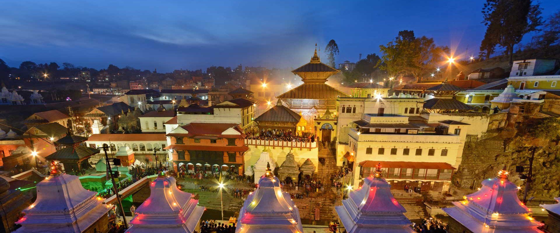 pashupatinath-temple at night