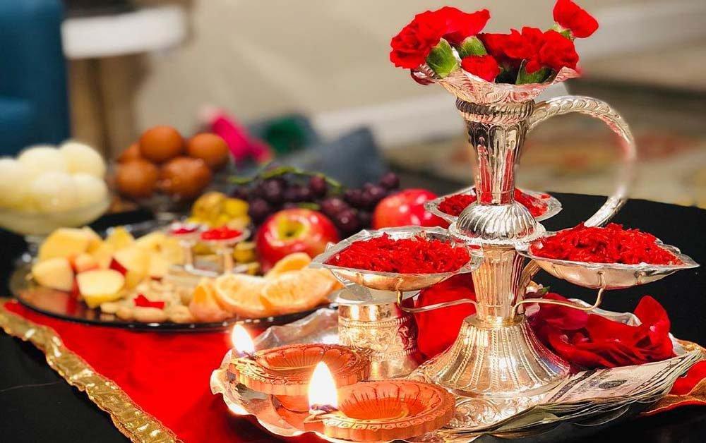 Setup for Dashain for Tika and Blessings