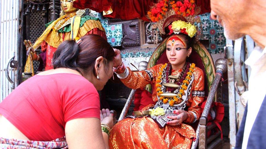 Living Goddess KUMARI, Hindu, Nepal