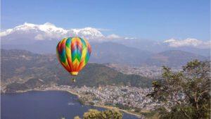 Hot air ballooning in pokhara