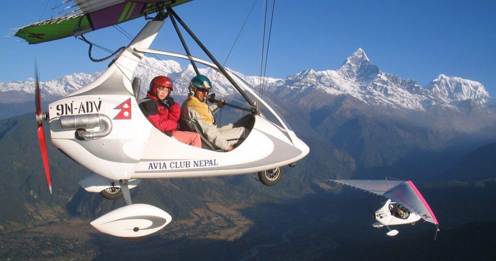 Ultralight flight , Major Tourism Activities in Nepal