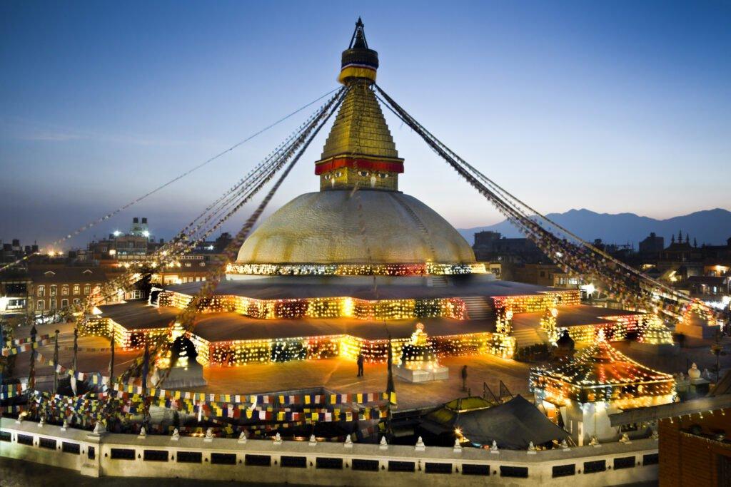 Bh Stupa Night viewoudhanat