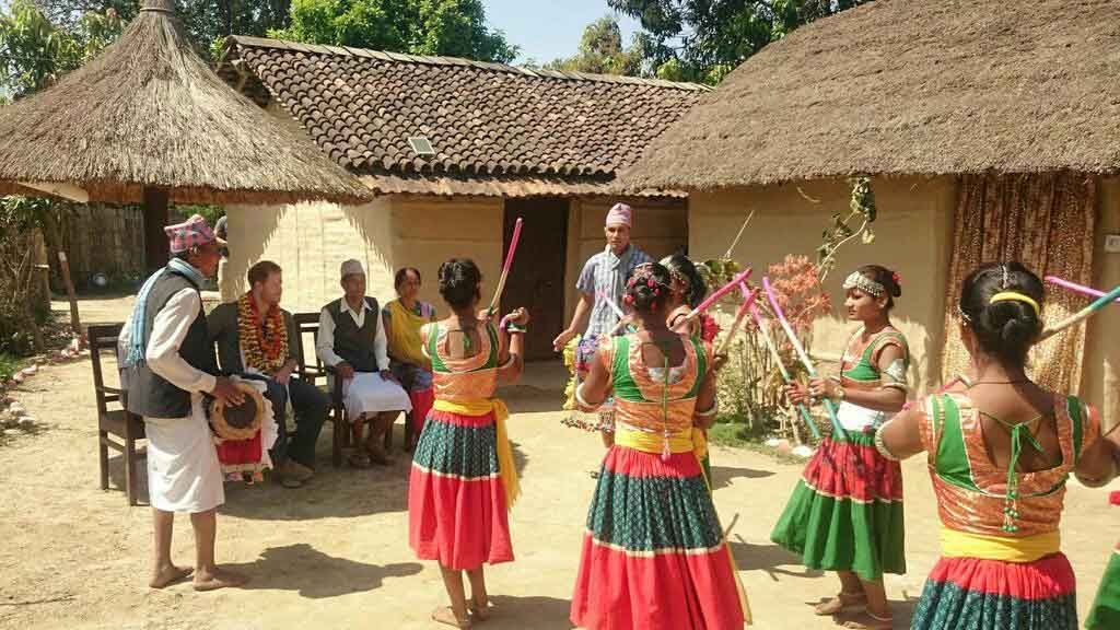 Tharu cultural program at dalla village homestay