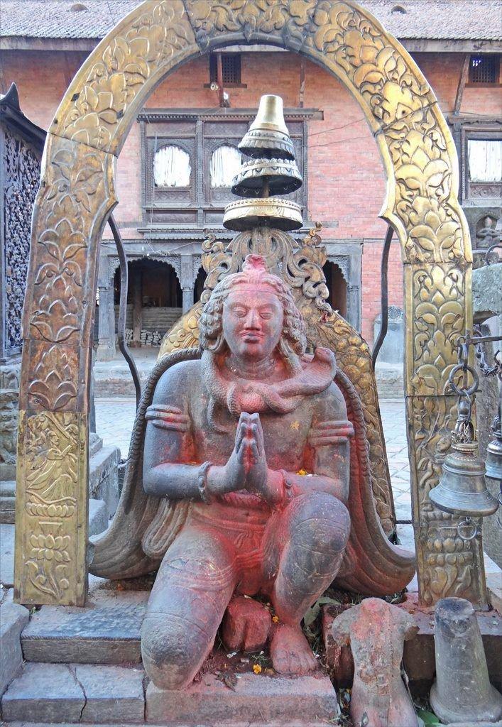 sculpture at Changu Narayan