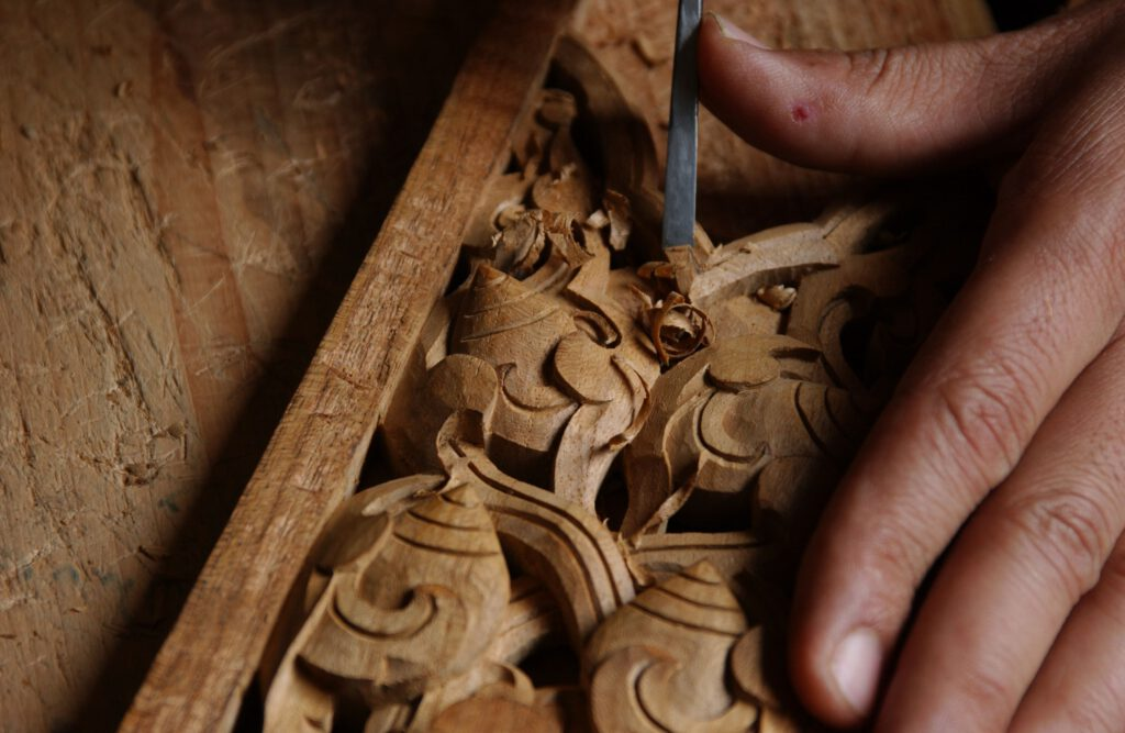 wood carving in Bhaktapur