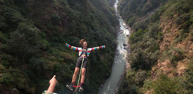 bungy-jumping bhote koshi river