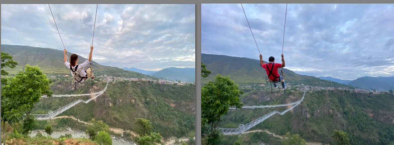 Nepal's tallest and model swing