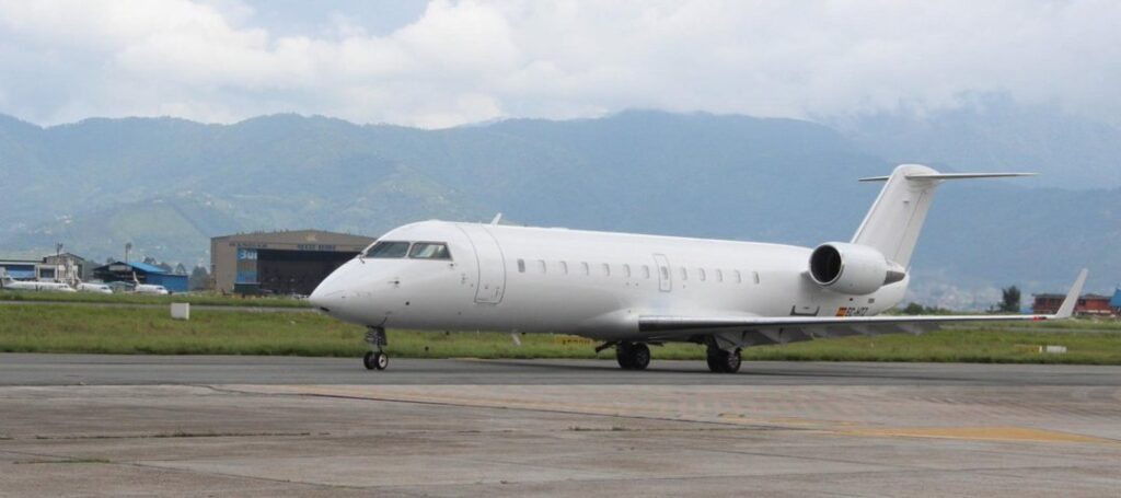 A new aircraft of Saurya Airlines has arrived in Kathmandu. The airlines have added a CRJ 200 aircraft of Bombardier Company to its fleet.