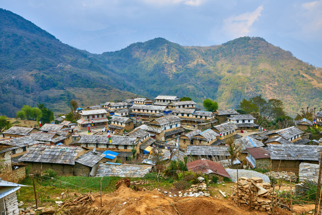 The village of Ghandruk, which is home to the Gurung community.