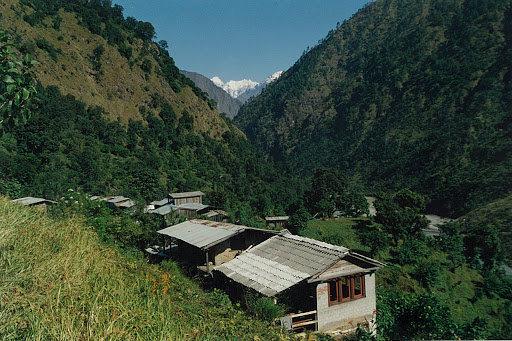 Village in the route of Panch Pokhari Trek