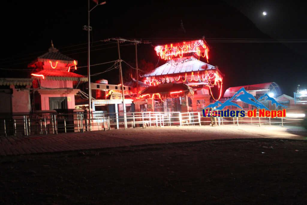 Night view of Supa Deurali Temple