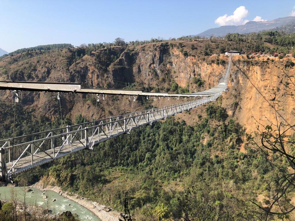 Suspension Bridge for bungee jump