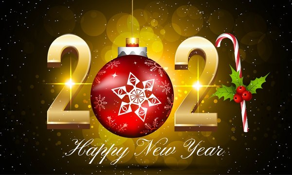 Happy New Year 2021 greeting cards