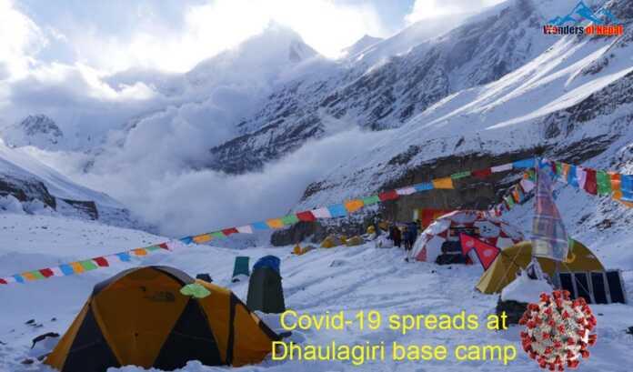 Covid-19 spreads at Dhaulagiri base camp